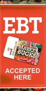 SNAP/EBT and Market Bucks sign